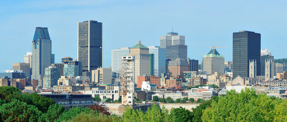 Wall Mural - Montreal day view panorama