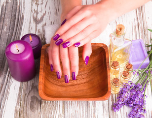 Beautiful woman Hands.Manicure concep