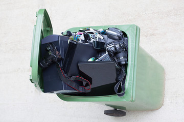 Bird eye view of dustbin
