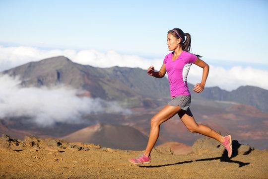 Female running athlete - woman trail runner