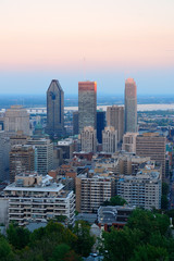 Fototapete - Montreal city skyline
