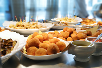 Buffet with various dishes