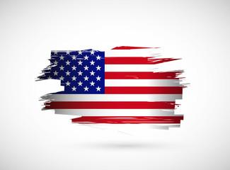 creative ink splash american flag design