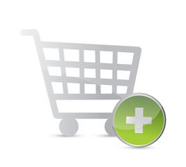 shopping online basket. illustration