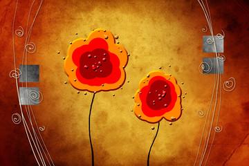flower color idea fun abstract