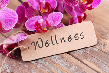 Printed roller blinds Orchid Wellness - Label