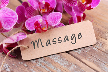 Printed roller blinds Orchid Massage - Label und Orchideen
