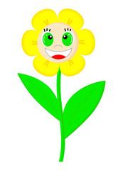 Fun smile flower