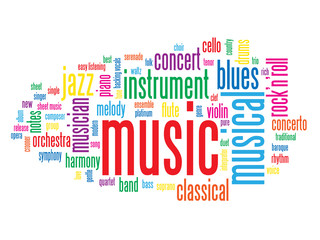 """MUSIC"" Tag Cloud (play live audio media player listen button)"