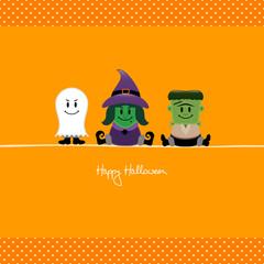 Halloween Ghost, Witch & Frankenstein´s Monster Dots