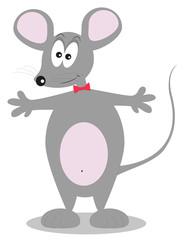 personaggio di un piccolo topolino stile cartone animato