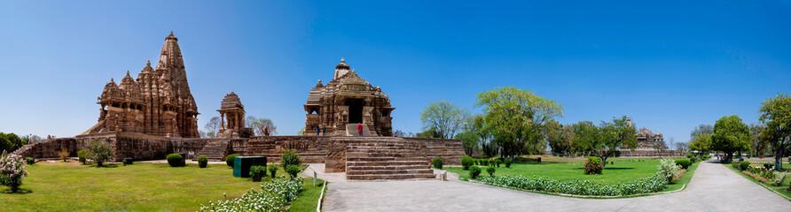 Keuken foto achterwand India Khajuraho Temple Panoramic, India