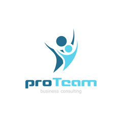 Business Consulting Logo with Team Symbol