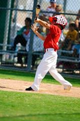 Young baseball batter