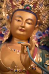 Close up of a buddha in Hangzhou