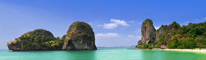 Phra Nang Beach, Thailand, Krabi Province, Panoramic picture