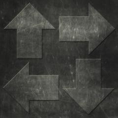 Grunge arrows background, metal texture
