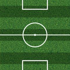 Striped football field