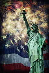 Statue of Liberty &  Fireworks