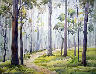 Forest - Watercolor Painting