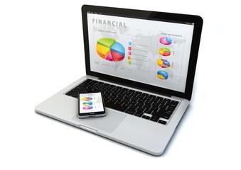 financial gadget concept
