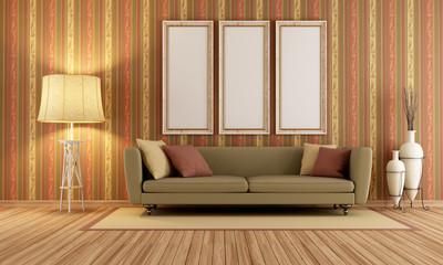 Vintage interior with elegant sofa