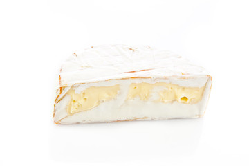 cheese brie isolated on white background. camambert