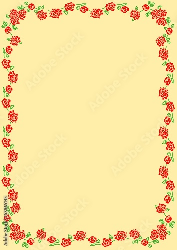 Cornice Sfondo Tralcio Rose Immagini E Vettoriali Royalty Free Su