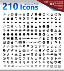 210 Universal Icons Set