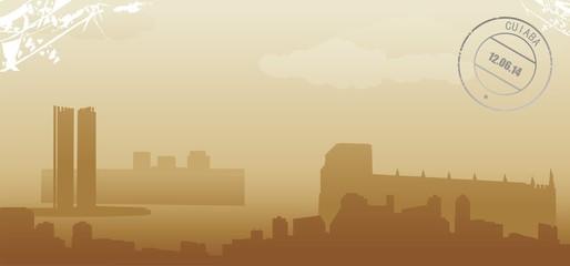 cuiaba abstract skyline