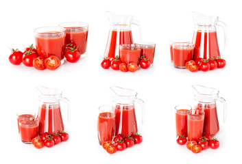 Wall Mural - Set of tomato juice