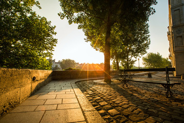 Foto auf Gartenposter Paris promenade sur Île Saint-Louis