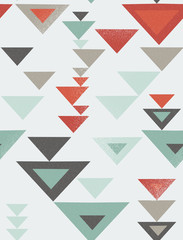 Seamless geometric pattern with vintage texture