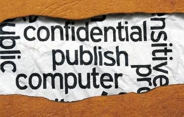 Confidential publish computer