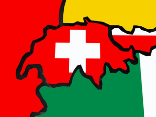 Map of Switzerland.