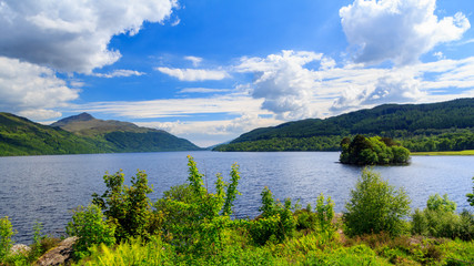 Inveruglas on Loch Lomond Scotland