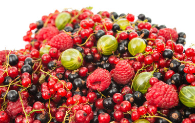 mix ripe berries
