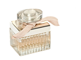 women's perfume in beautiful bottle isolated