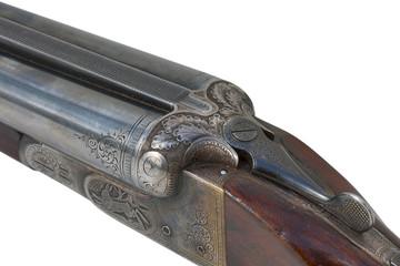 two trigger old shotgun