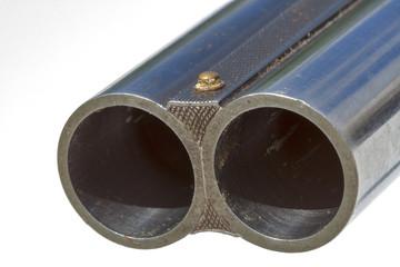 Double-barreled old shotgun macro