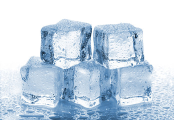 Five melted ice cubes