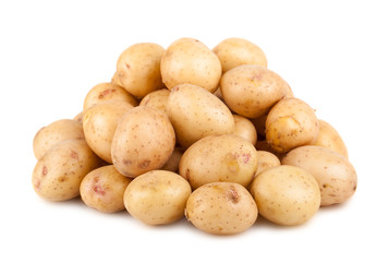 Big heap of ripe potato