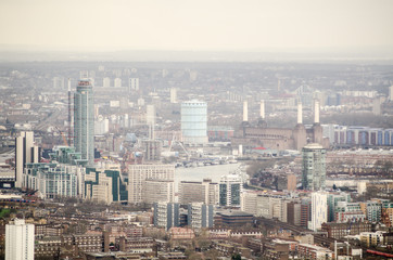 Aerial view of Lambeth and Battersea