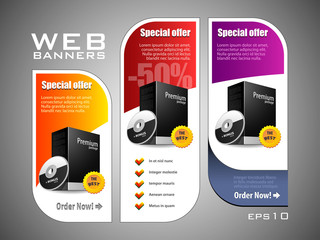 Special Offer Banner Set Vector Colored 11