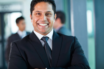 indian businessman close up portrait