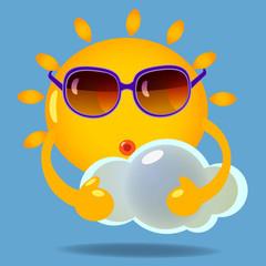 sun with cloud