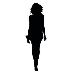 Frau Silhouette Vektor Illustration