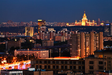 Moscow cityscape in summer