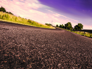road in evening time