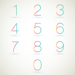 Numbers set vector.
